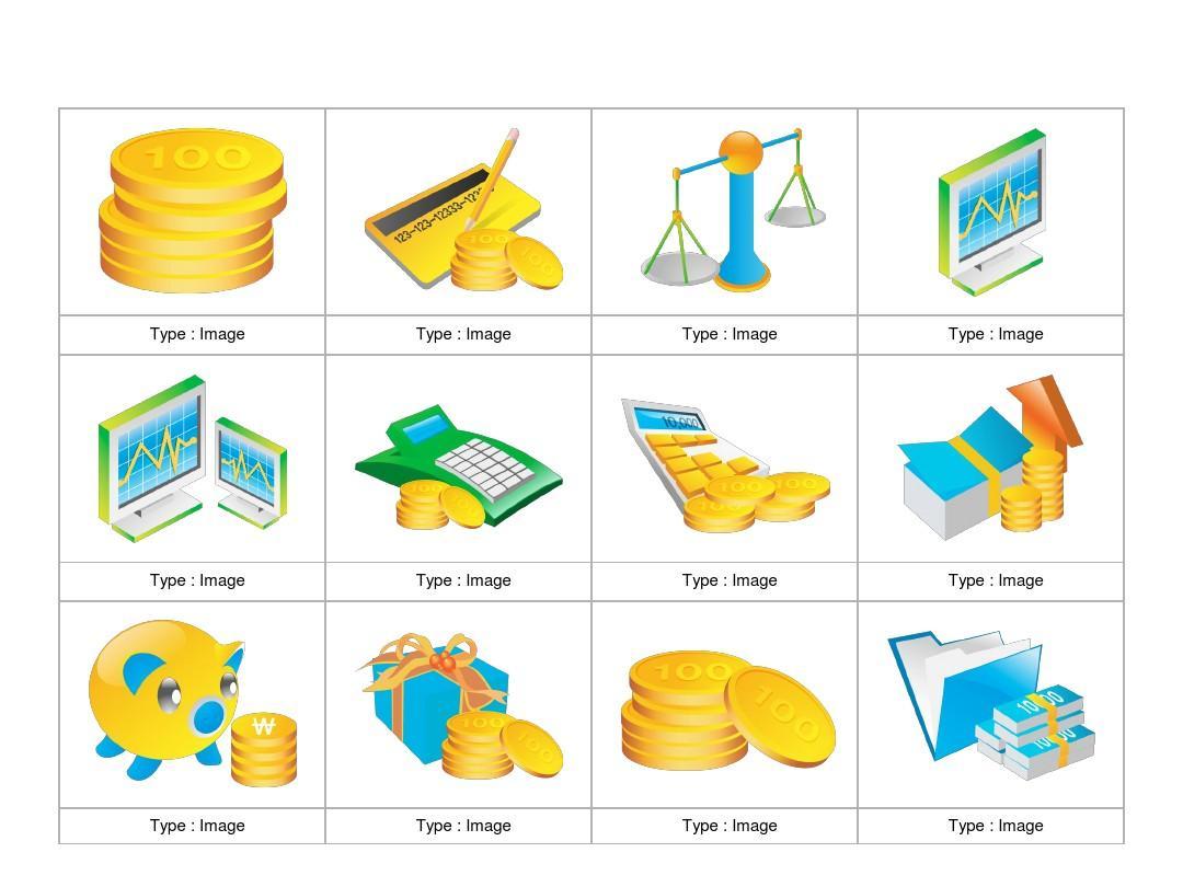 金融行业图标素材ppt_word文档在线阅读与下载_无忧图片