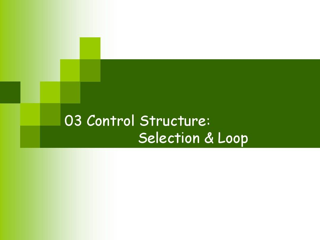 03_Control_Structure_Selection_Loop