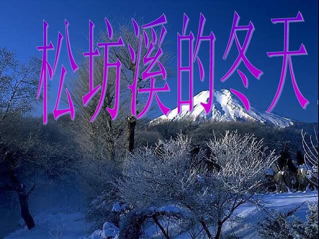 六年级语文上册松坊溪的冬天课件1鄂教版