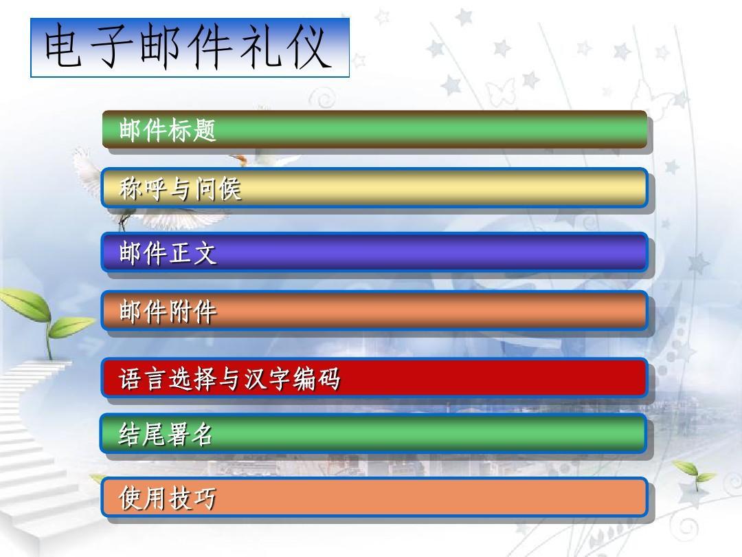 电子邮件礼仪培训材料_20090203PPT