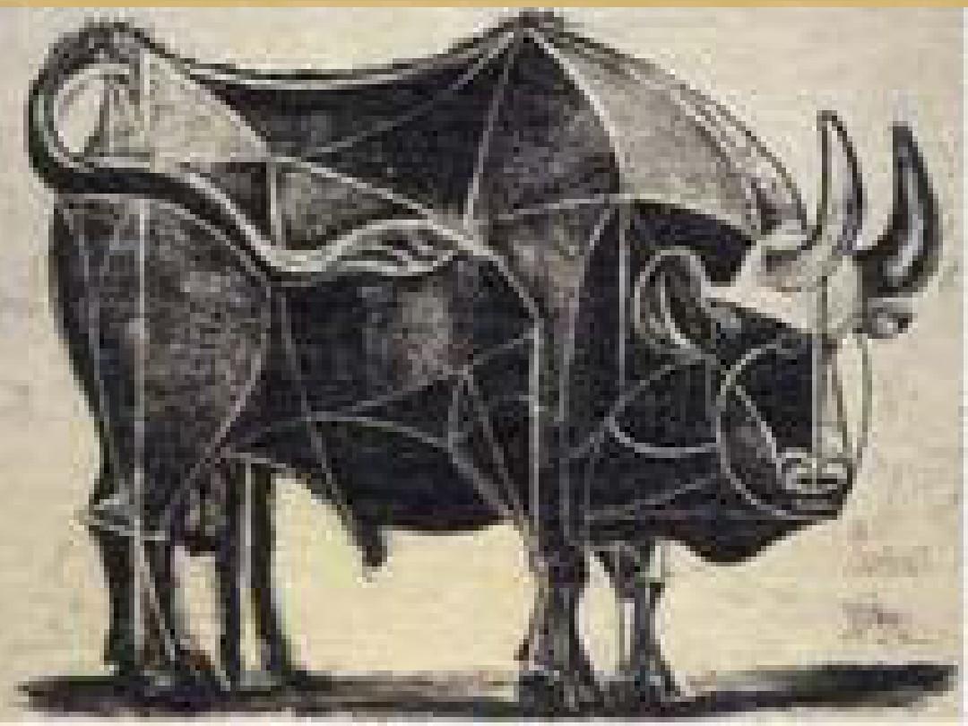 里面有毕加索高度概括的牛设计的装饰的纹样,适合课堂授课.