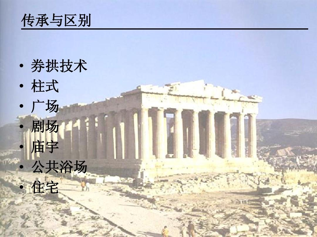 古希腊与古罗马建筑的传承与区别oppt图片
