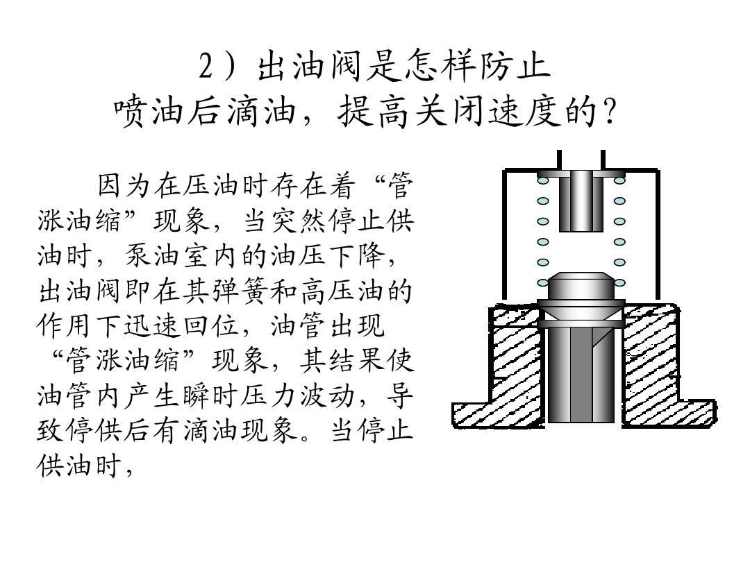 柴油机柱塞式喷油泵ppt图片