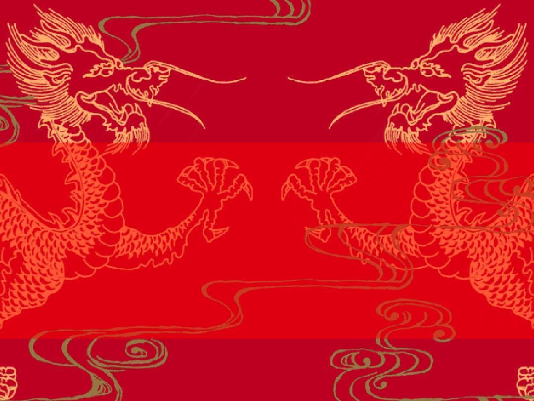 中国龙背景PPT模板2P