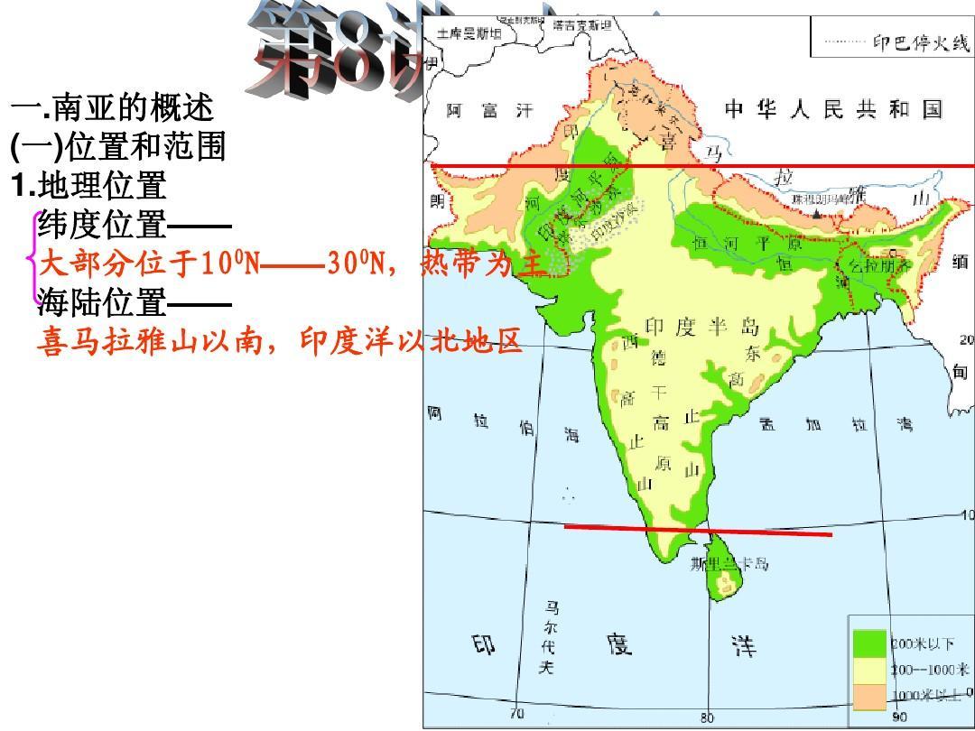 世界地理07 南亚PPT
