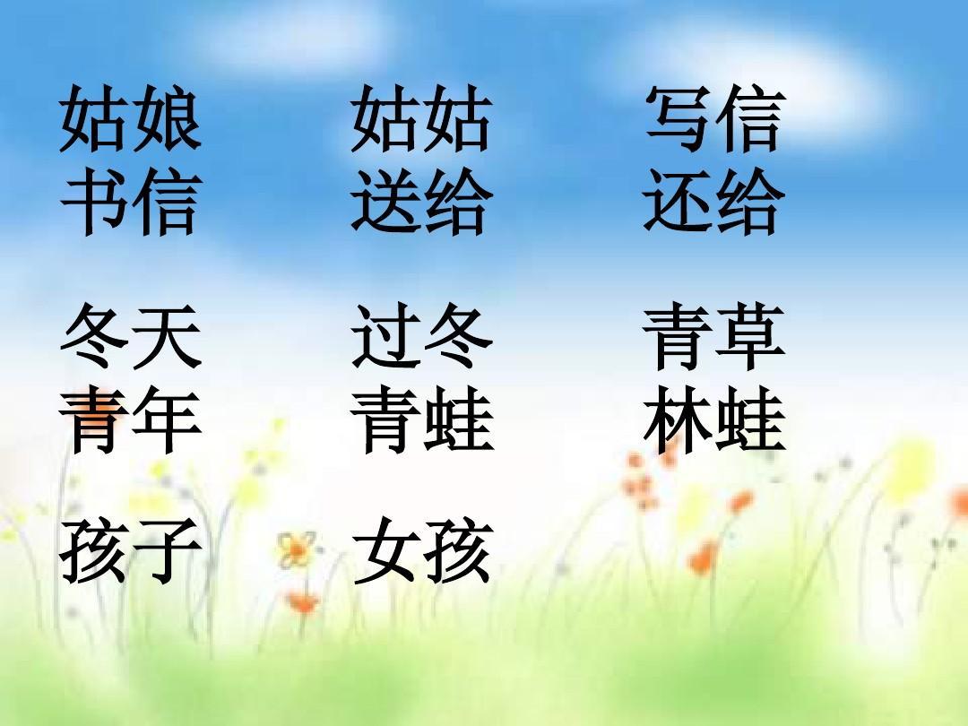 沪教版小学语文一年级上册《风姑娘送信》课件ppt图片