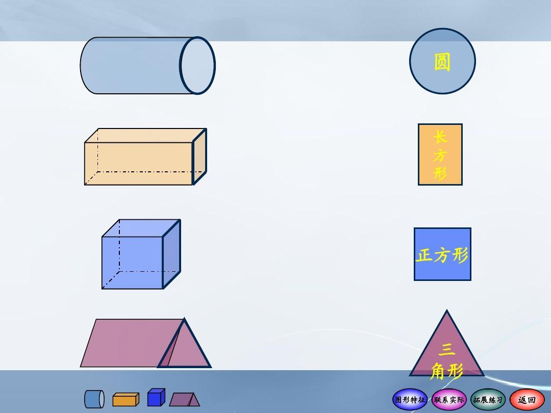 一年级数学下册认识图形1精品ppt课件  圆 长 方 形 正方形 三 角形图片