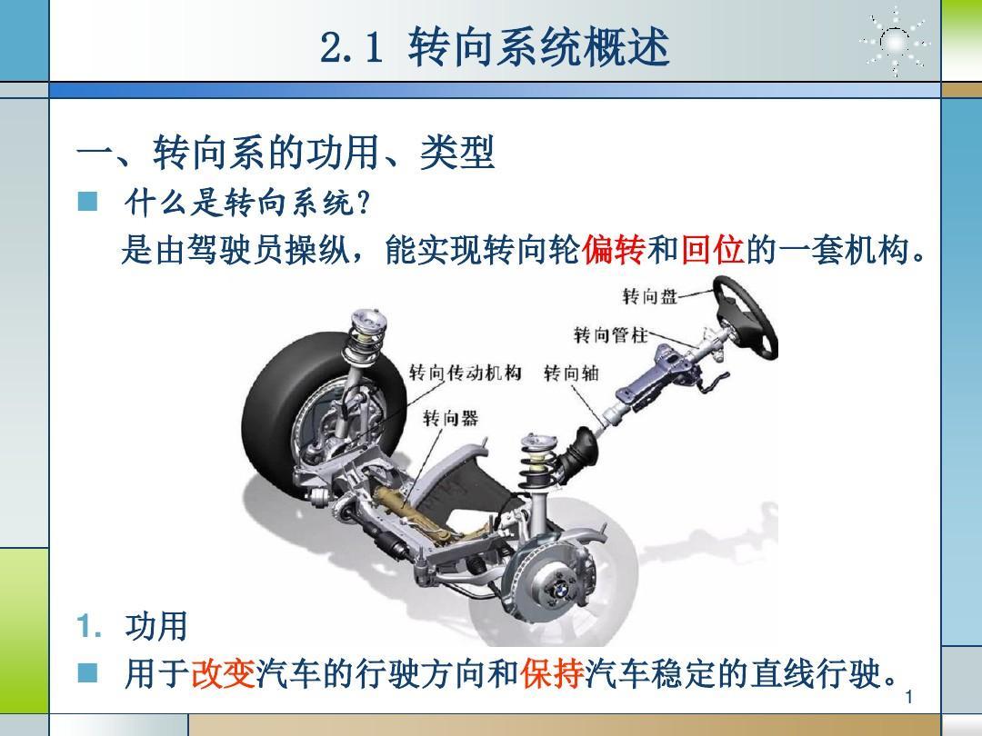 汽车转向系统ppt_汽车机械转向系统PPT_word文档在线阅读与下载_文档网