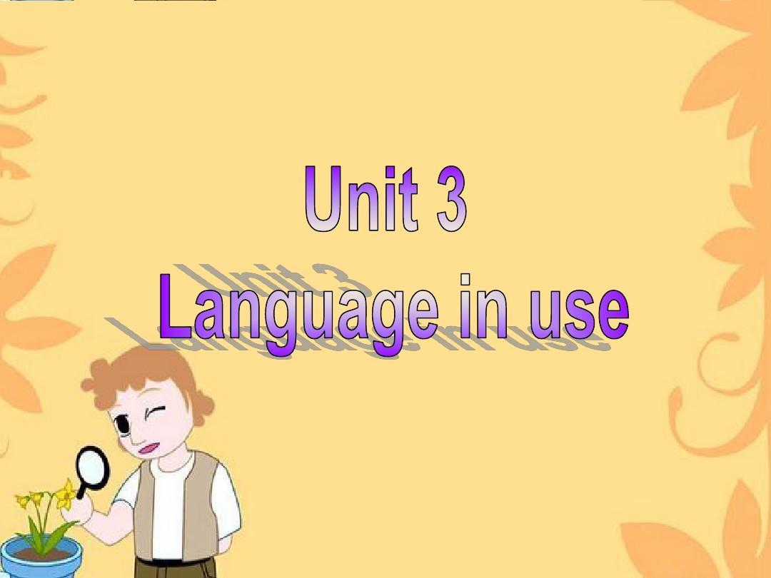 外研版七年级英语 上册 M odule1 Unit3 Language in use(共30张PPT)
