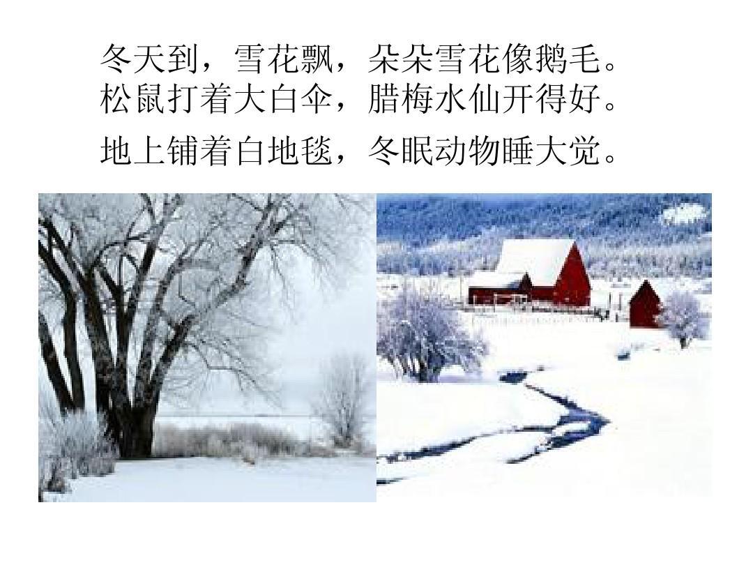 冬天的故事ppt