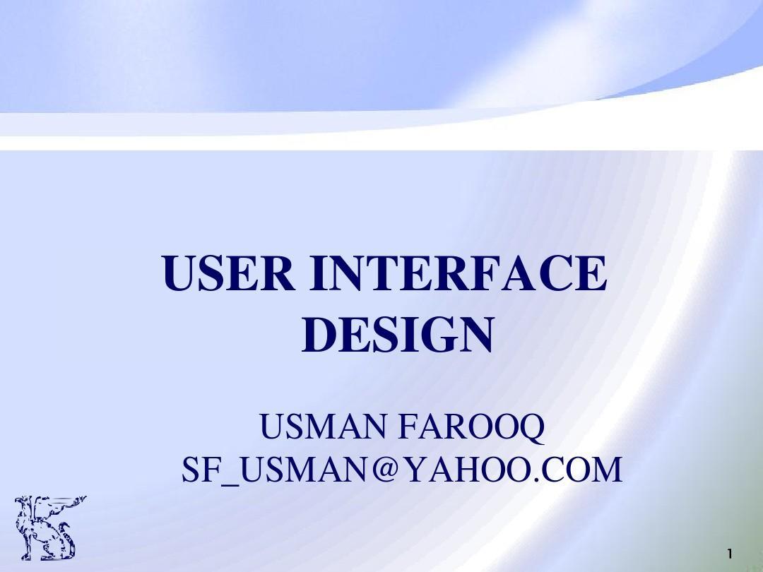 Lecture 10_User Interface Architecture design
