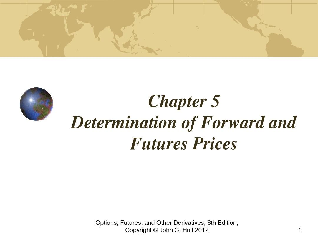 Ch5 Forward and Futures Prices w_t exercise