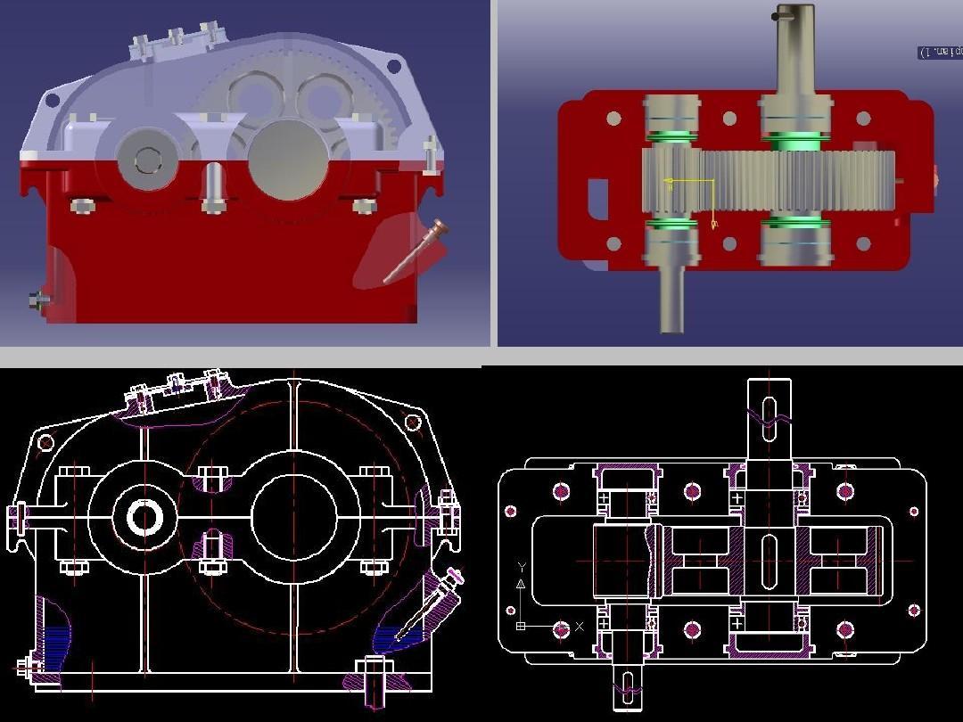一级减速器夹具图_一级圆柱齿轮减速器装配图及说明书,附带cad图纸 或proe,谢谢 ...