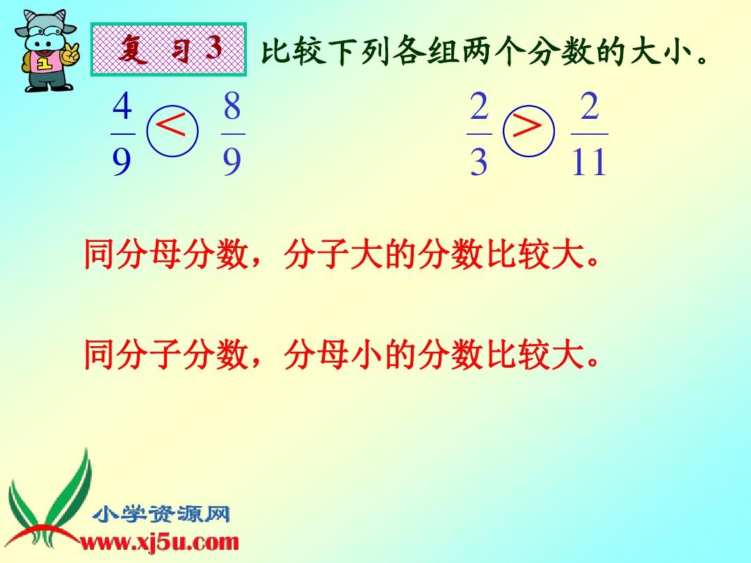 北师大版分数五数学教学《上册的概念比较》ppt年级[1课件中大小模型的定义图片