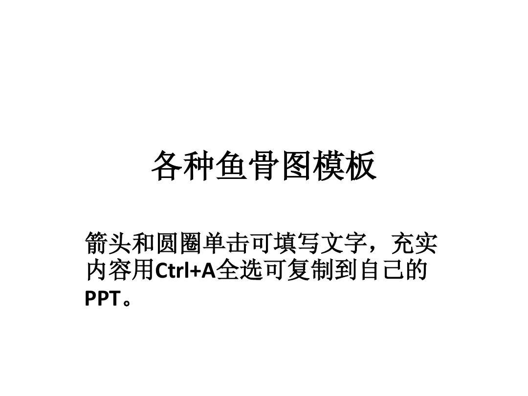鱼骨图关联图制作模板PPT
