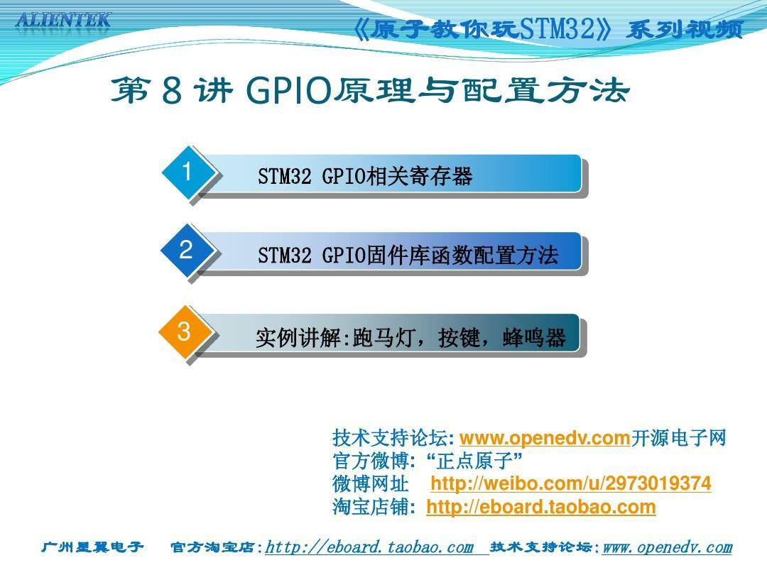 第8讲 GPIO原理与配置方法PPT