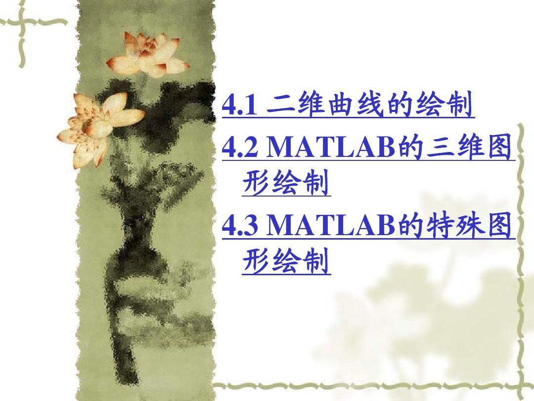 第4章MATLAB计算的可视化和GUIv阁楼PPT阁楼房店面无窗设计图图片
