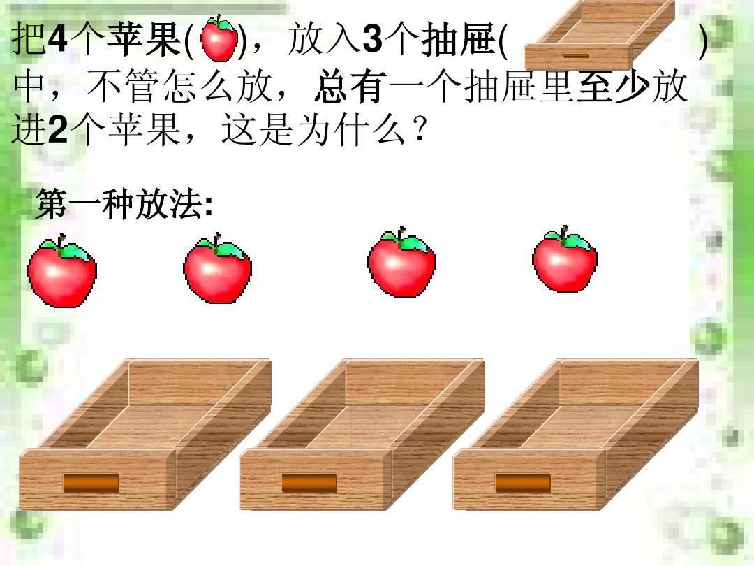 什么是抽屉原理_人教版六年级上册抽屉原理课件ppt