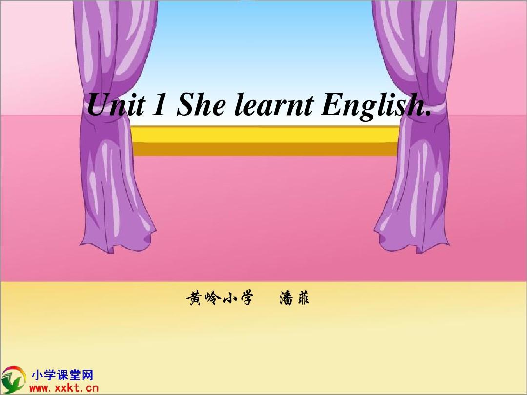 《Module2 Grandparents unit1 she learnt English》PPT课件