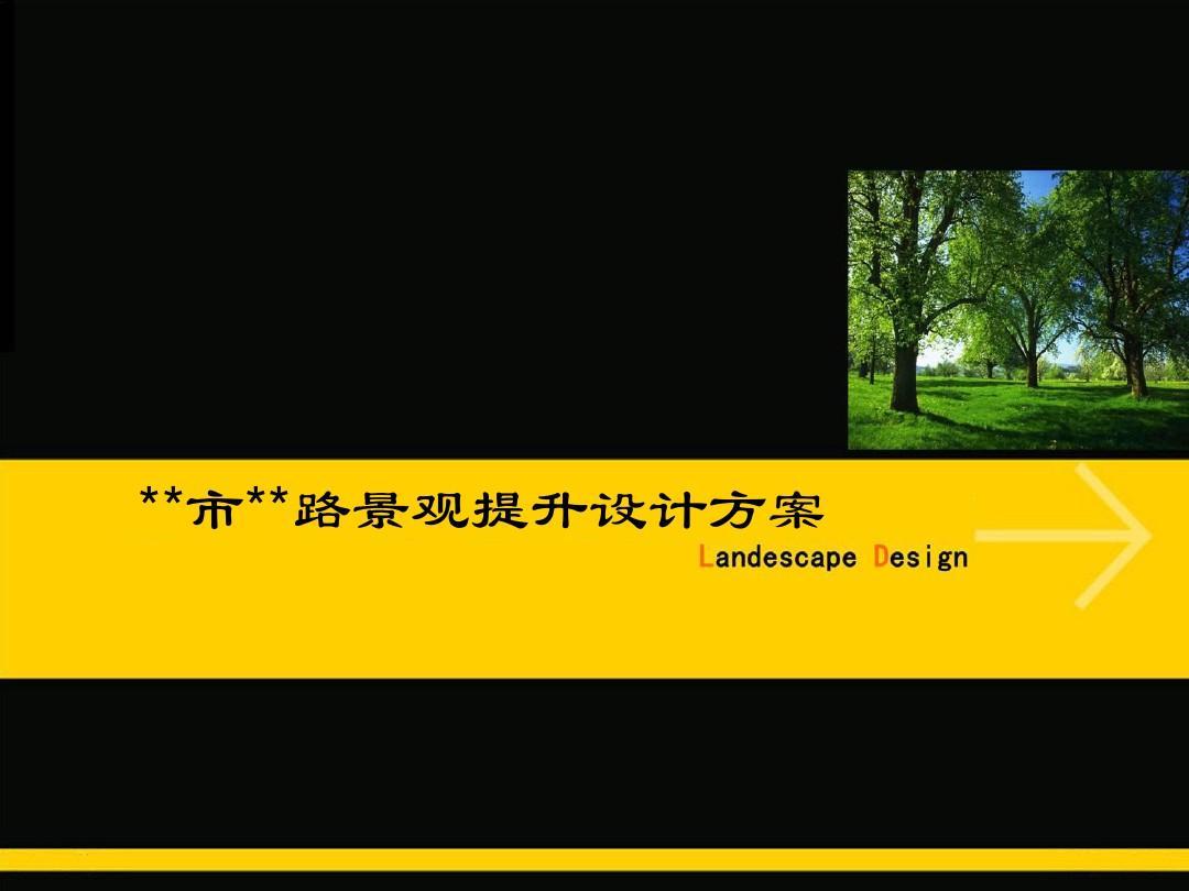 景观设计方案1ppt图片