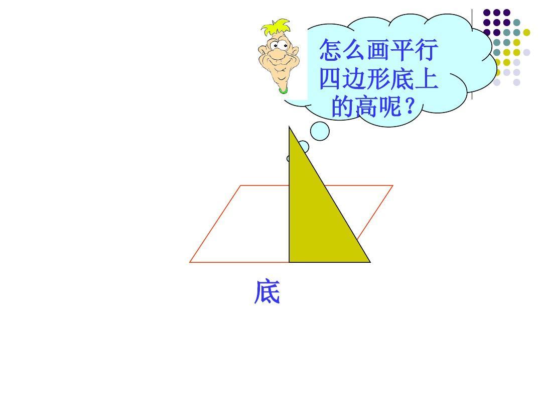画平行四边形与梯形的高1ppt图片