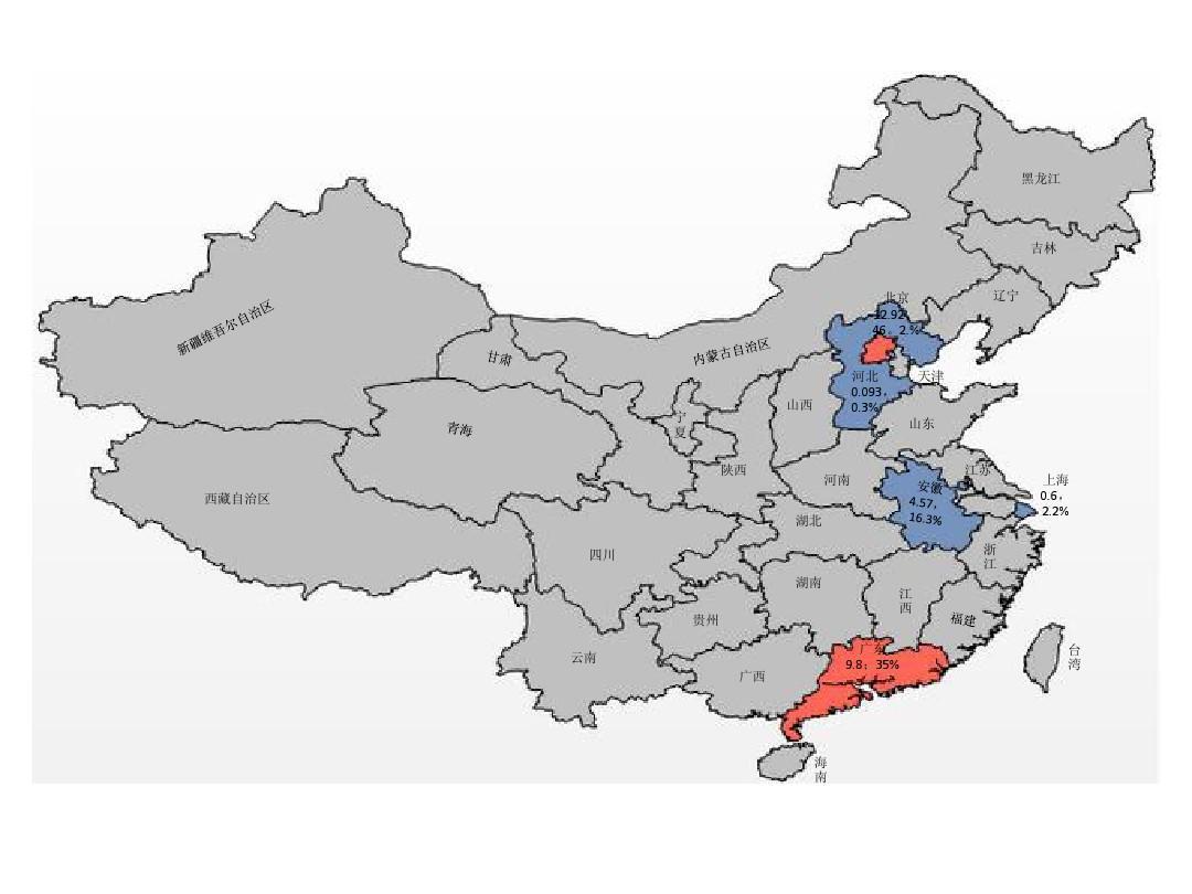 可编辑的中国地图(ppt版)_20130517