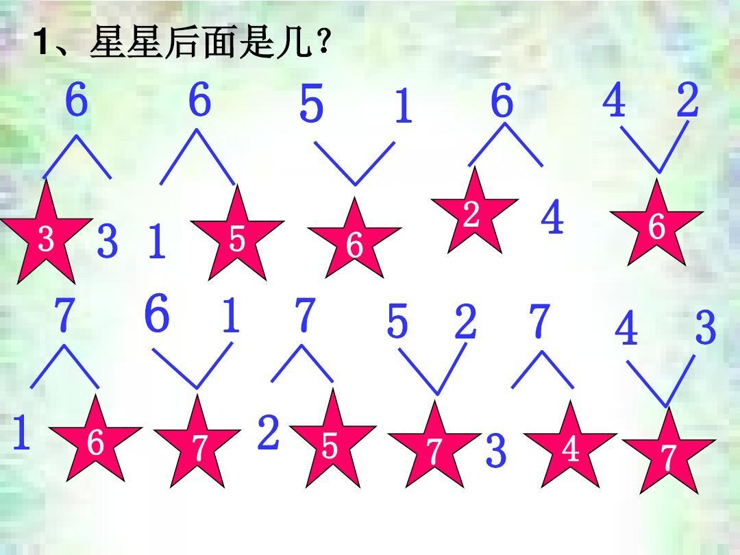 6以内数的分解组成ppt图片