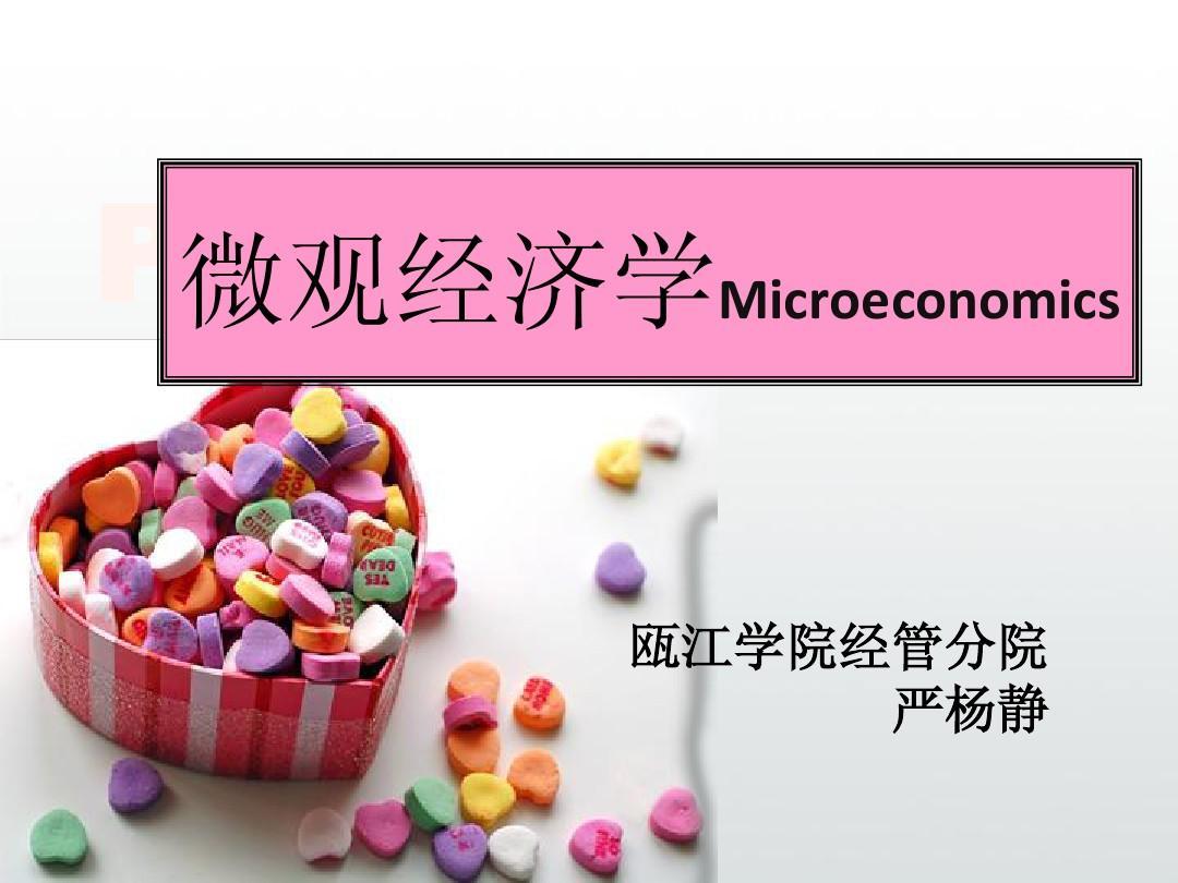 微观经济学第一章 引论PPT