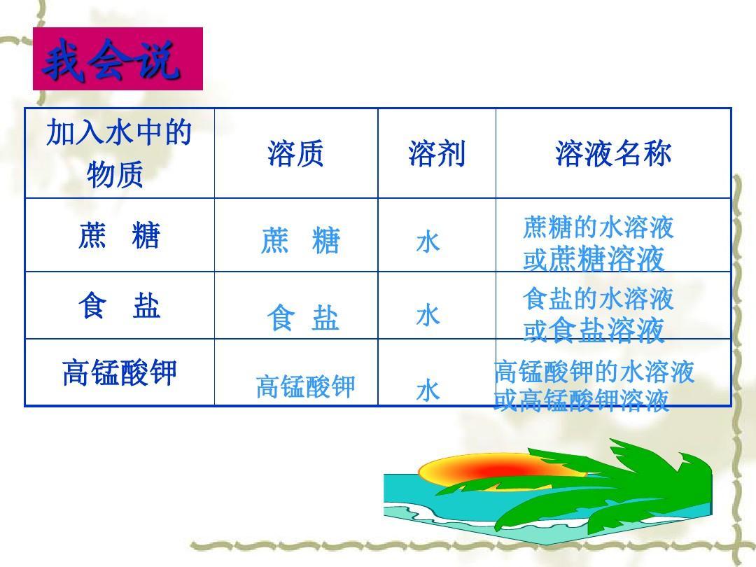 九年级化学溶液的形成_3课件粤教版ppt