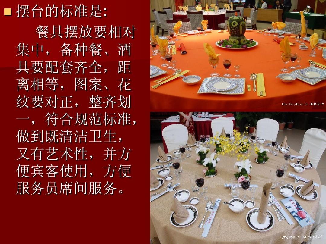 六中餐宴会摆台ppt图片