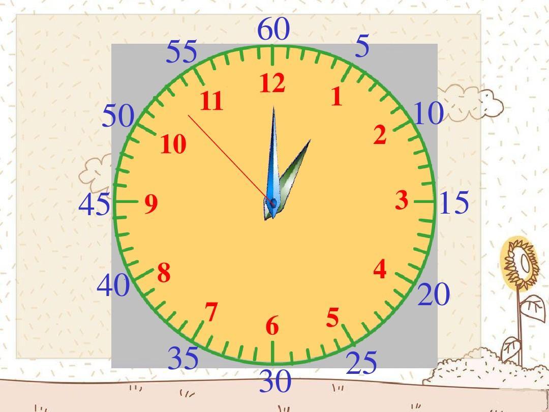 西师大版数学二年级下册《认识钟表》课件201301ppt图片
