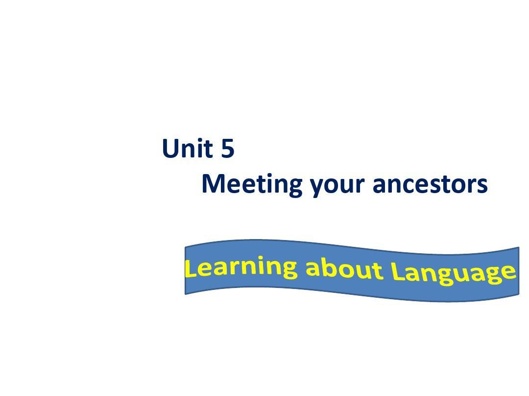 人教英语选修8 Unit5 Learning about Language (共32张PPT)