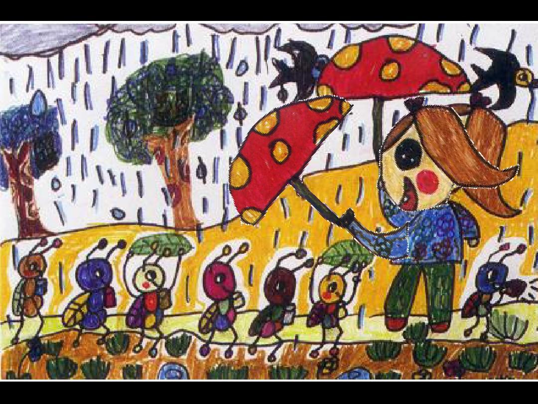 人美版小学二年级美术 下雨了 课件ppt图片