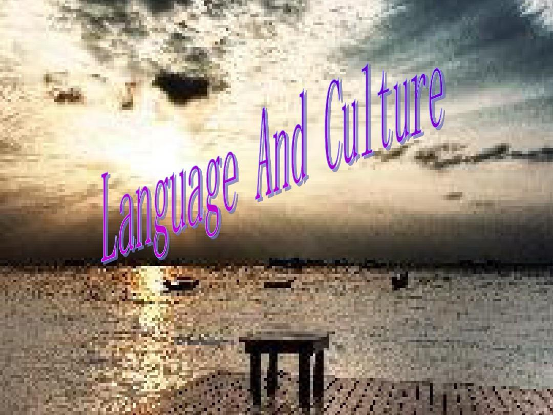 LANGUAGE AND CULTURE-跨文化交际