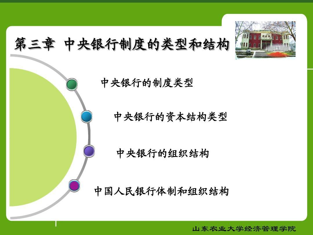第三章中央银行制度的类型和结构