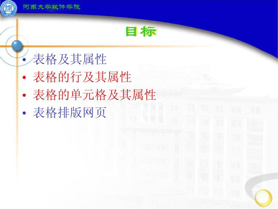 表格及其属性 表格的行及其属性 表格的单元格及其属性 表格排版网页图片