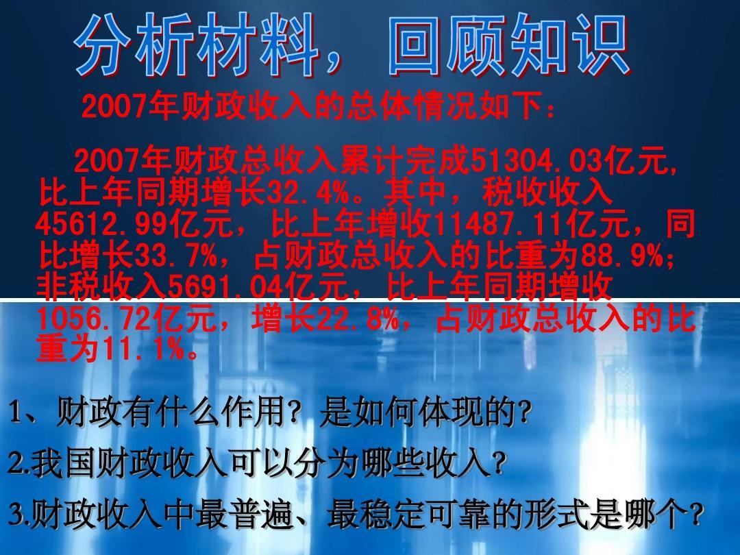高中政治8.2财政与税收 征税和纳税课件 新人教版必修1