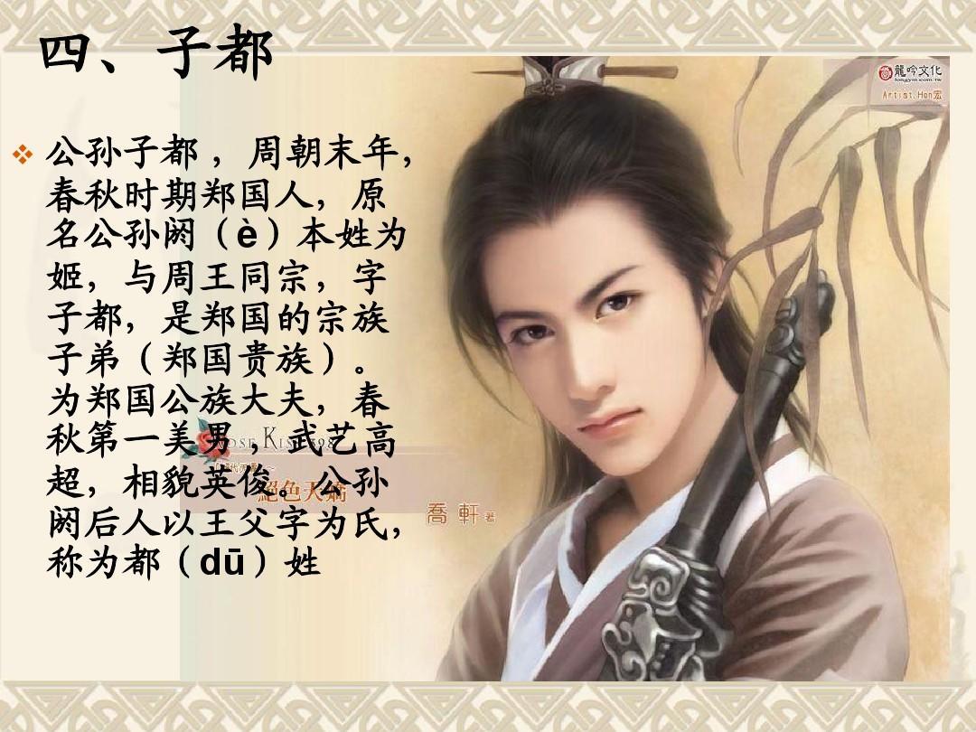 中國古代十大美男ppt圖片