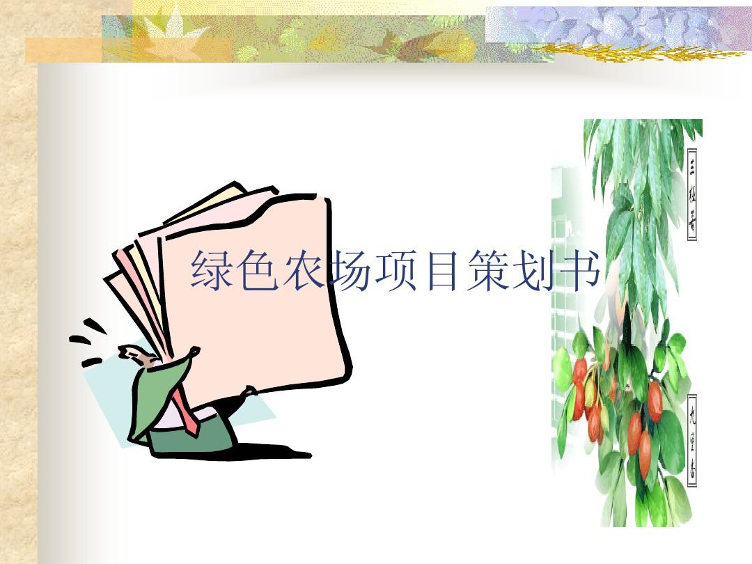 绿色农场项目策划书