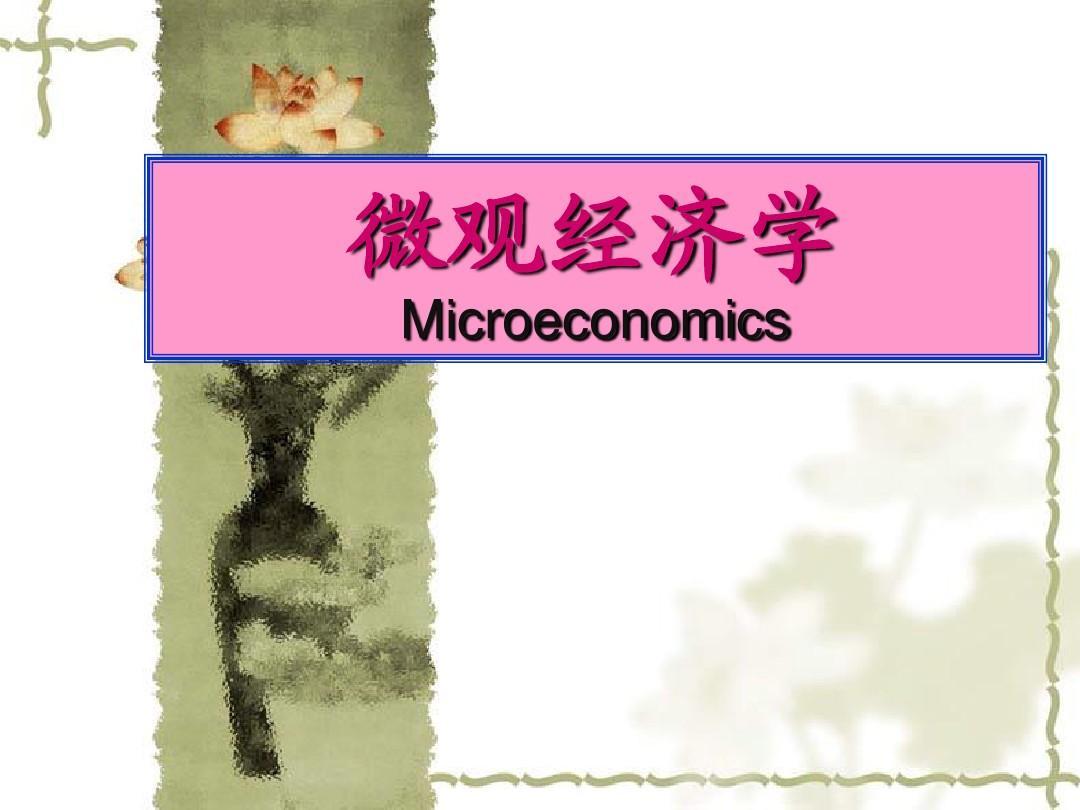 高鸿业微观经济学PPT