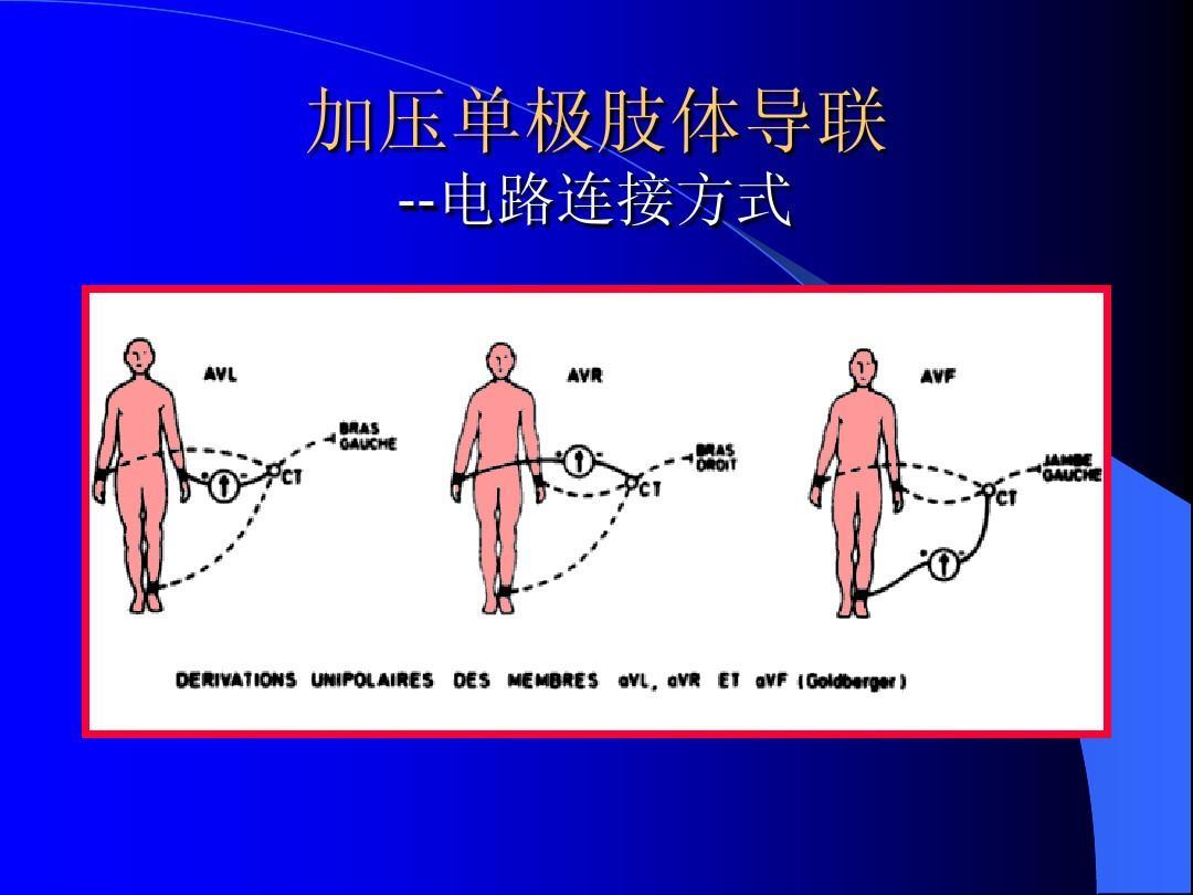加压单极肢体导联 --电路连接方式