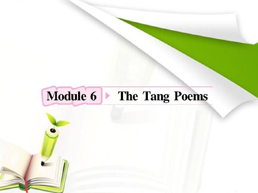 高中英语外研版复习课件:选修8 Module6 The Tang Poems答案PPT