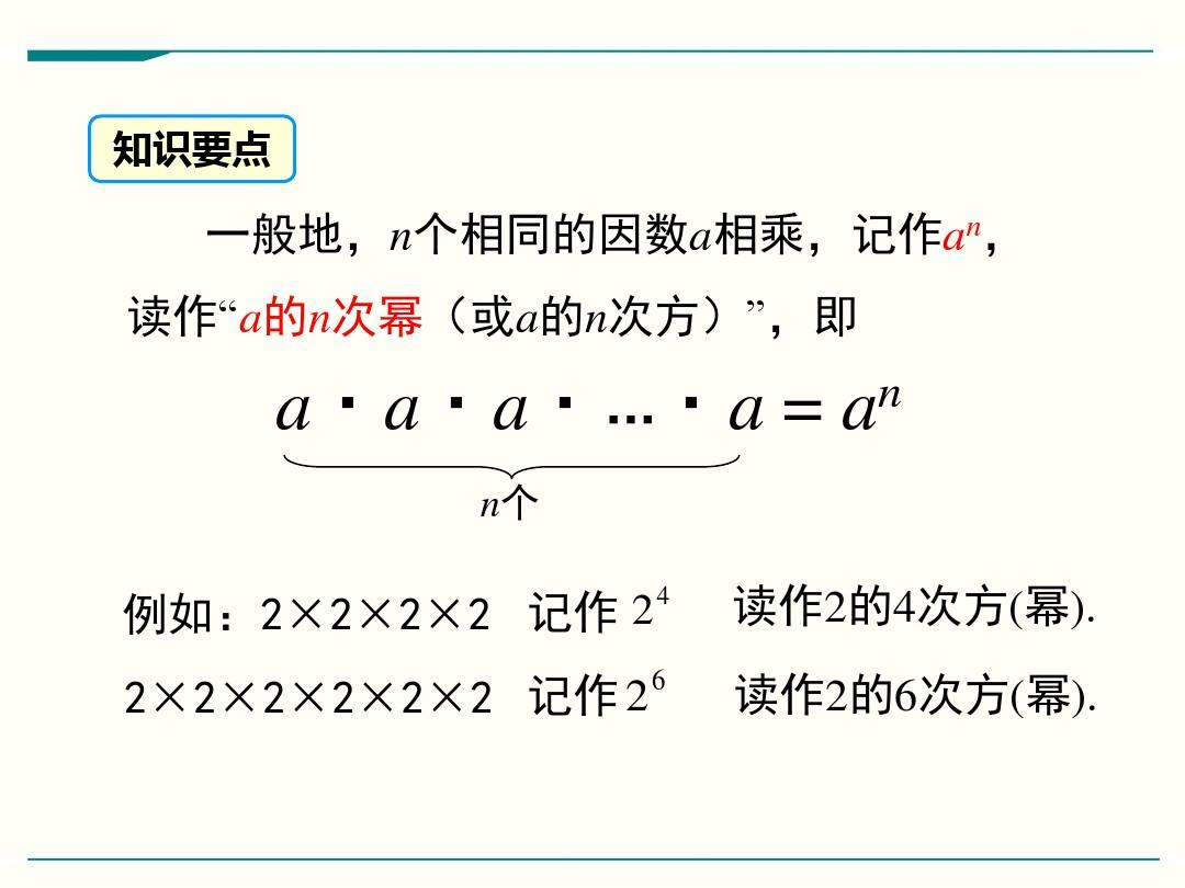 最新人教版七年级上册数学1.5有理数的乘方优秀课件(4