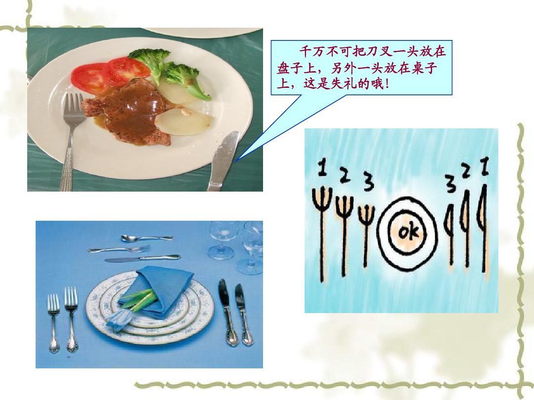 中西餐礼仪之西餐ppt图片