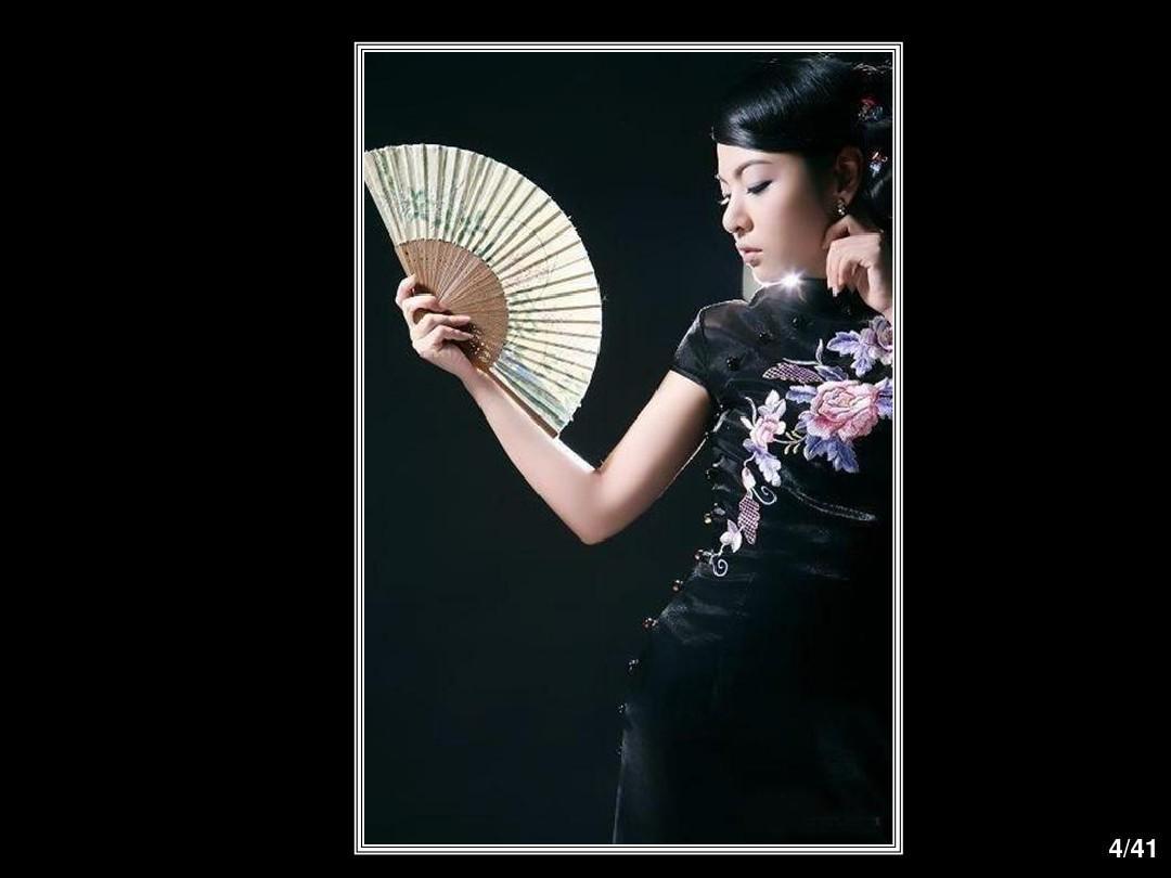 中国旗袍秀ppt图片