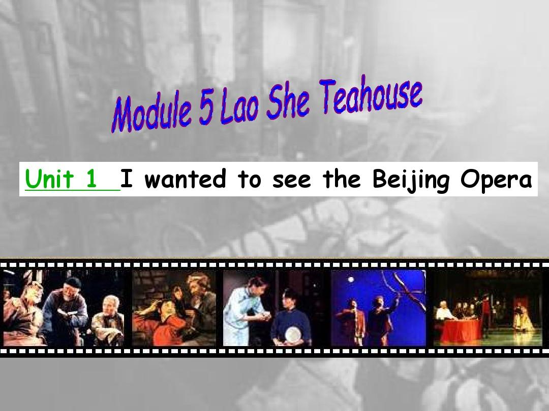 新外研版八年级英语上册Module 5  Unit 1 I wanted to see the Beijing Opera 精品课件(14张PPT)