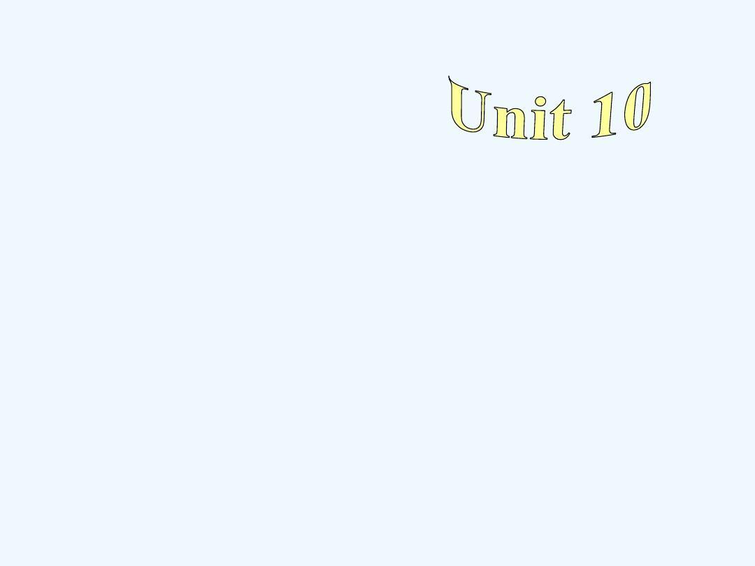 初中英语人教版八年级下册Unit 10 Section A