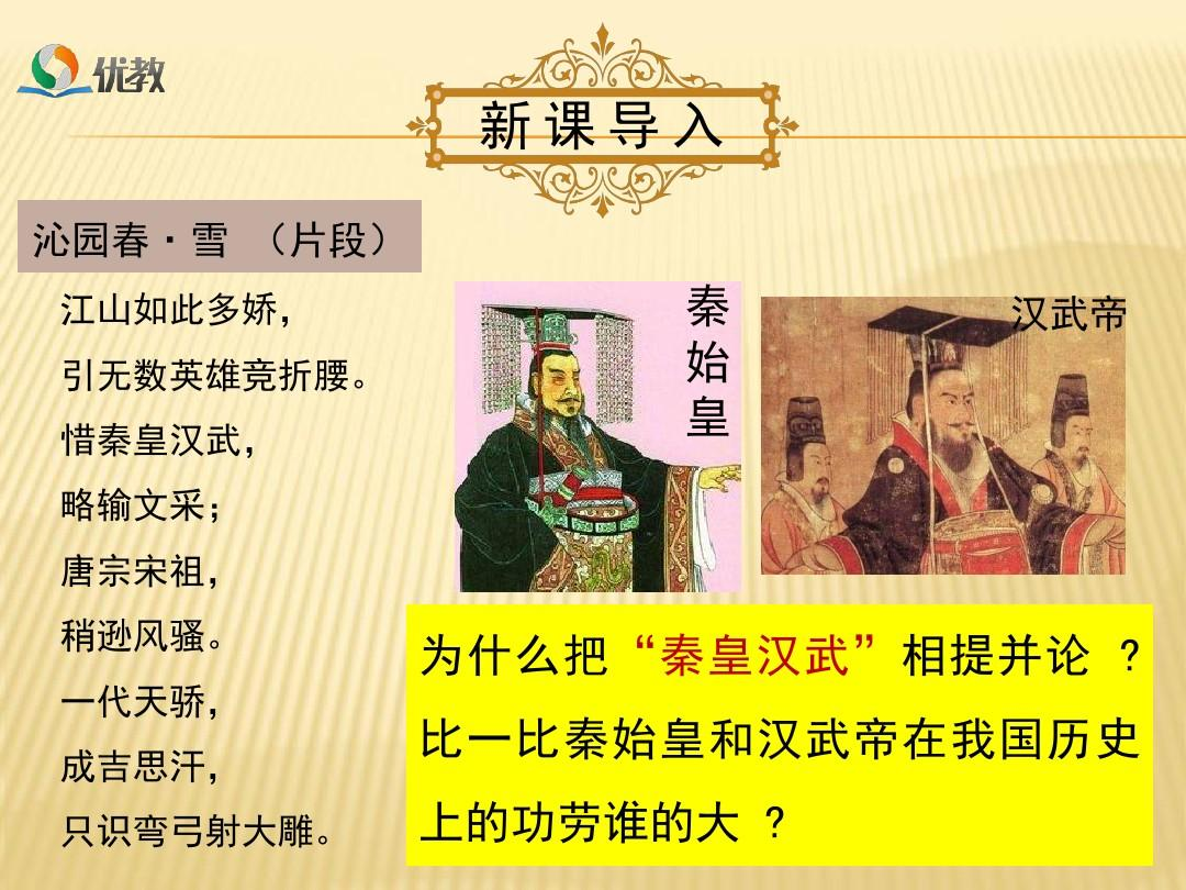 新人教版七年级历史第12课汉武帝巩固大一统王朝ppt