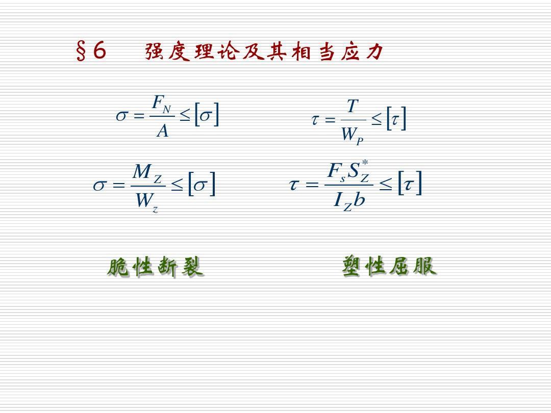 孙训芳材料力学课件7-6PPT