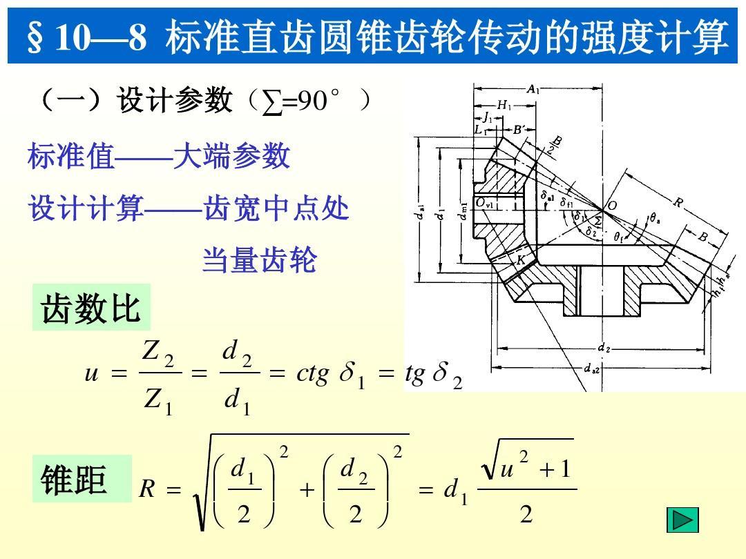 设计 强度计算 直齿圆锥齿轮 直齿轮计算公式 实训指导书 齿轮传动受图片